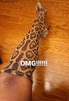 Dolce Gabbana Leopard Sock Heel