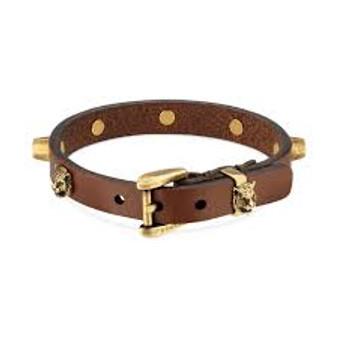 Gucci Feline Head Bracelet (Brown)