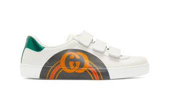 Ace Sneakers With an Arched GG Midfoot Print