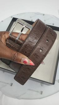 Gucci GG Belt (Brown)