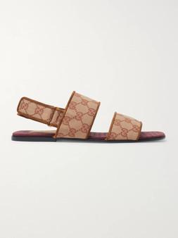 Gucci Men's Monogram Double Strap Sandal
