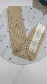 Gucci Logo Lurex Socks (Beige)