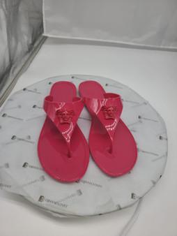 Pink Versace Medusa Head Flip Flops
