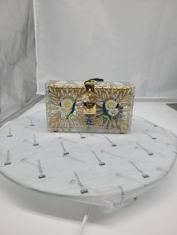 Acrylic box clutch