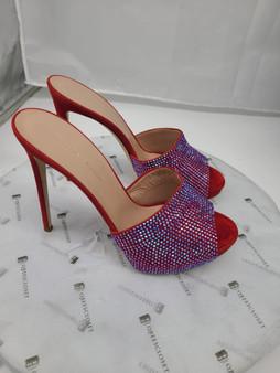 Red Pink Crystal Heels