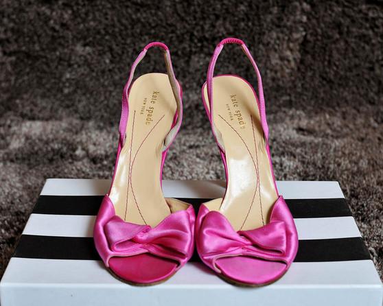 Pink Satin Bag & Shoe Set