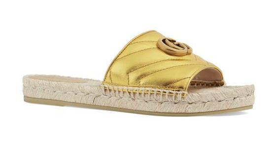 Gucci Marmont Espadrilles Slides
