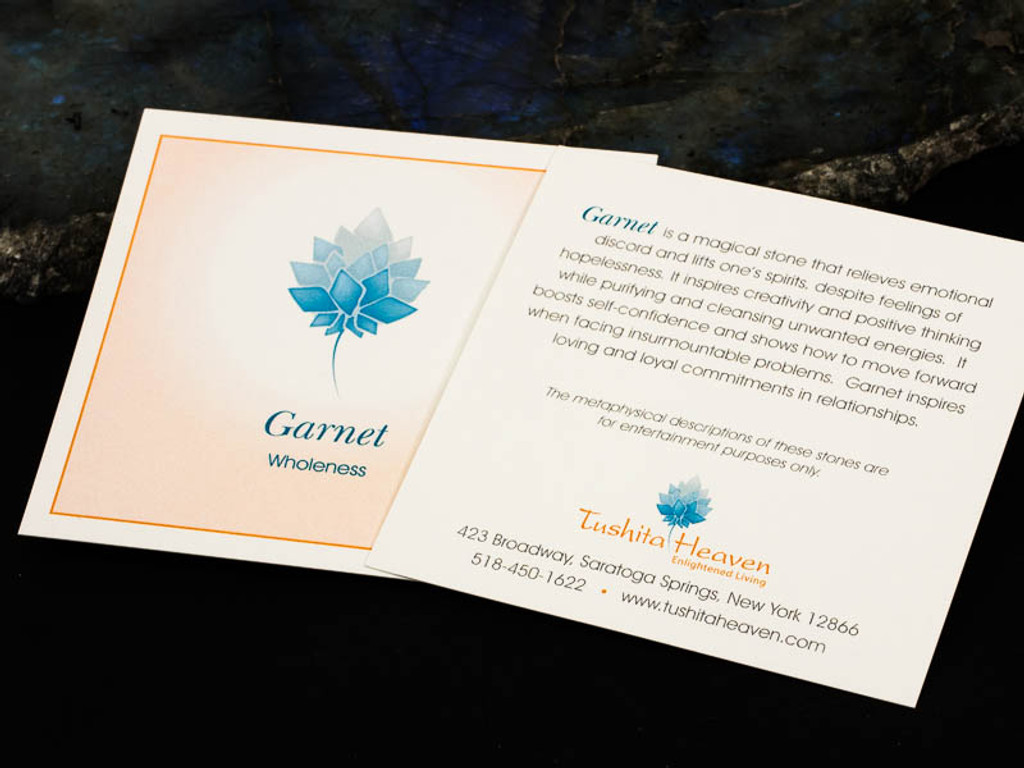 Garnet Description Card