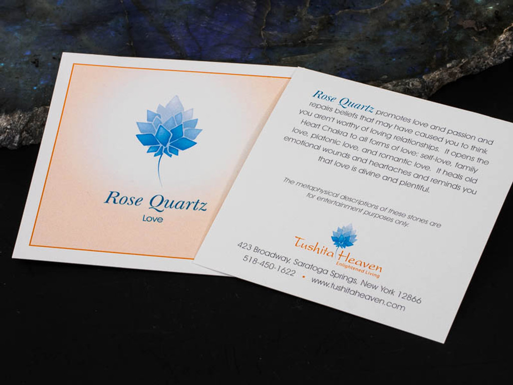 Rose Quartz Description Card