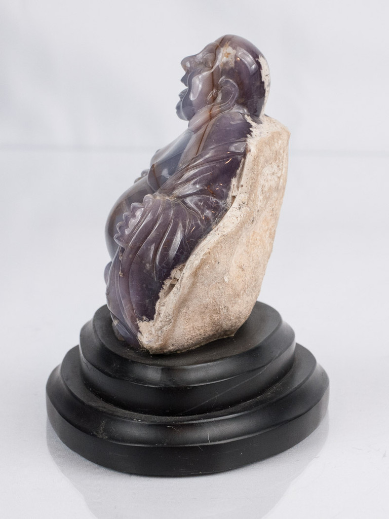 Purple Chalcedony Buddha Carving