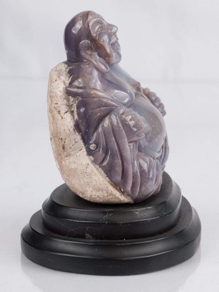 Purple Chalcedony Buddha -A