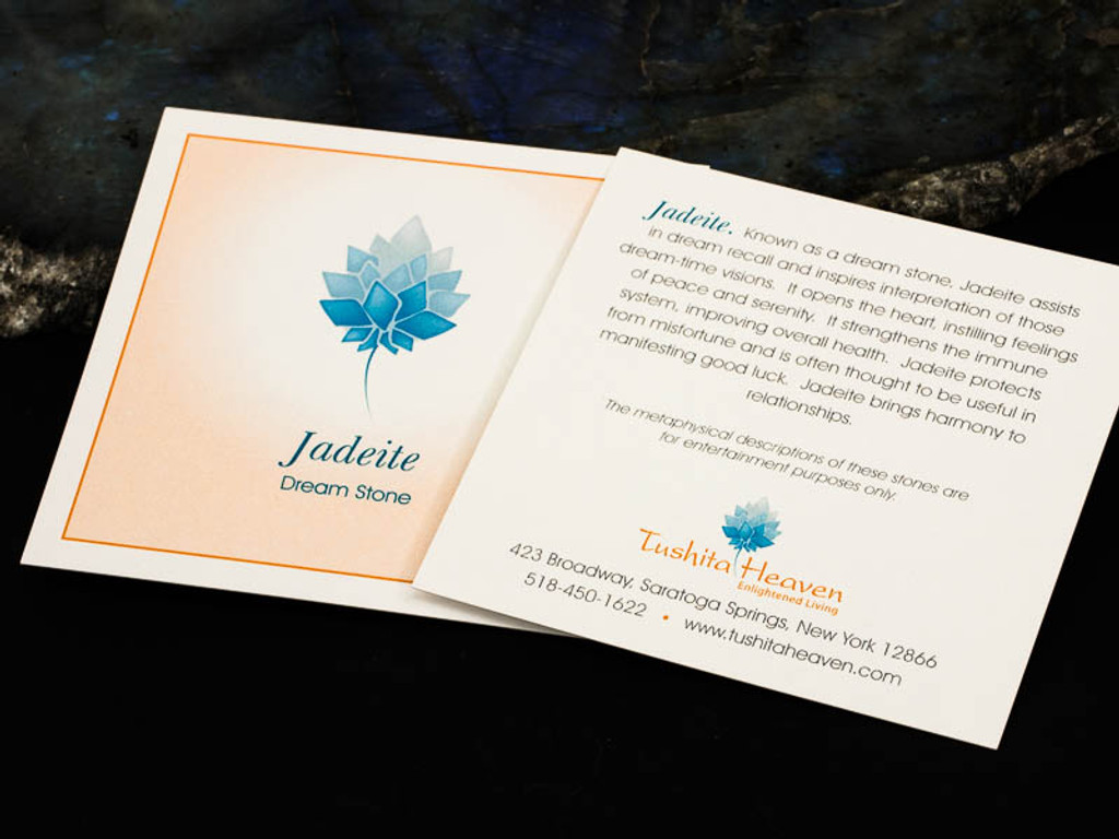 Jadeite Description Card