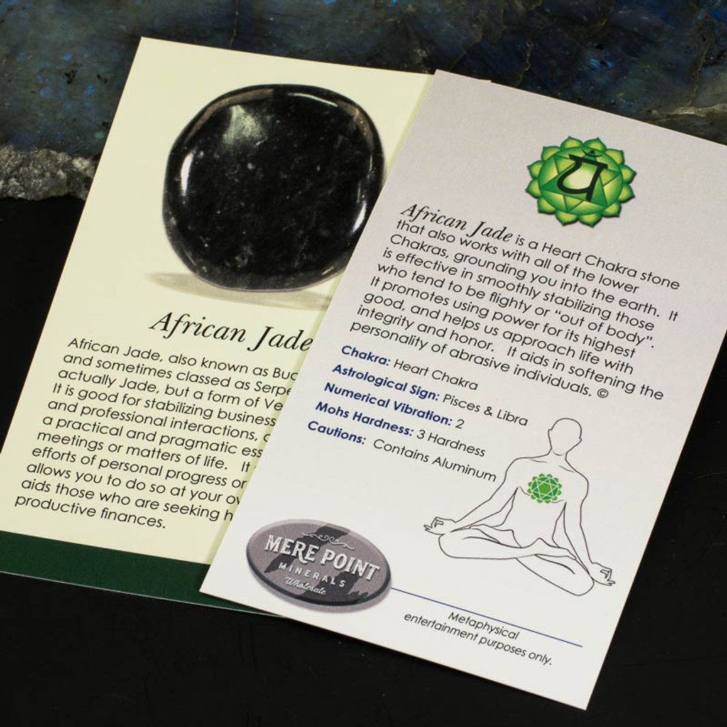 African Jade description card.