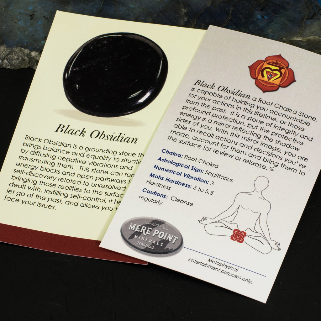 Black Obsidian Description Card