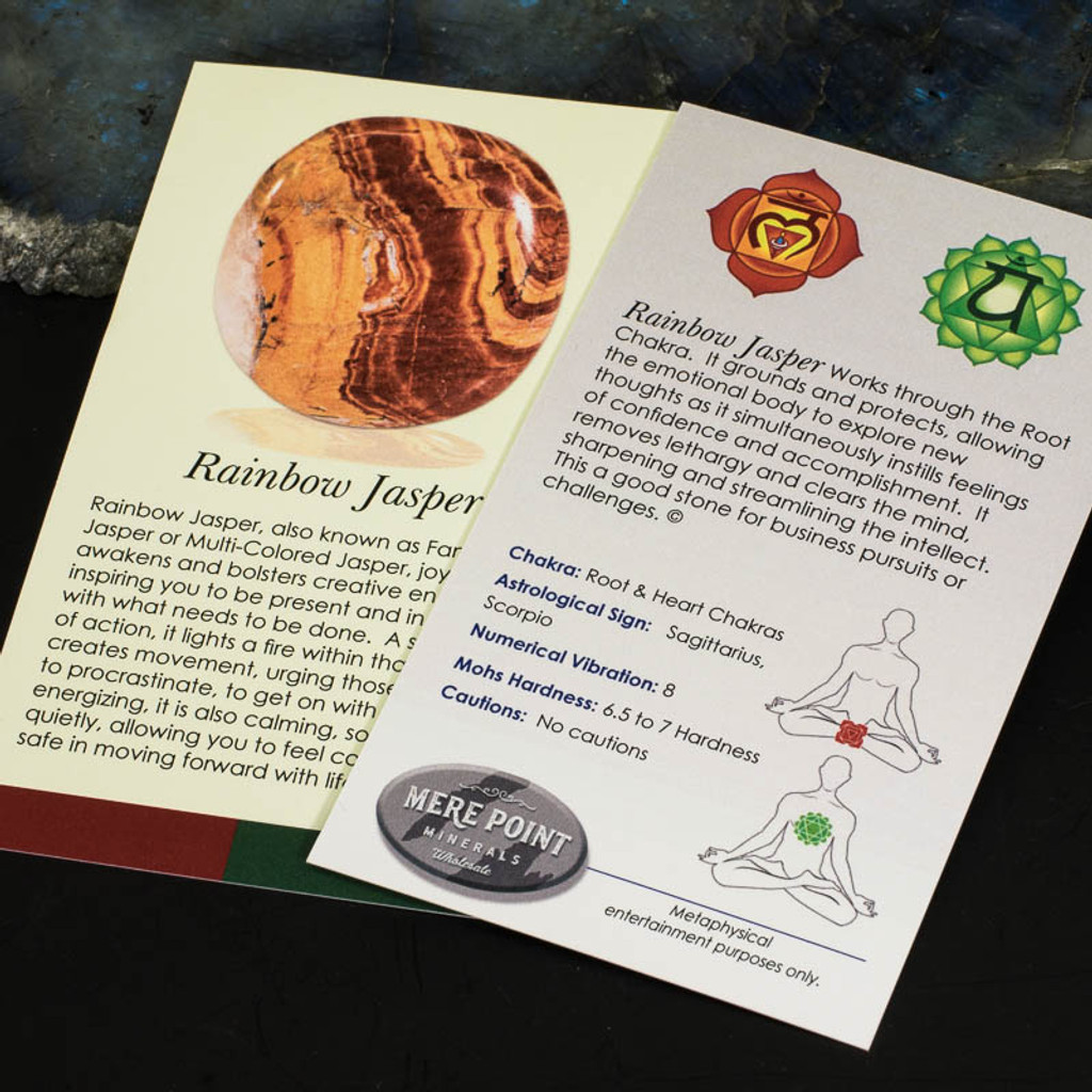 Rainbow Jasper Description Card