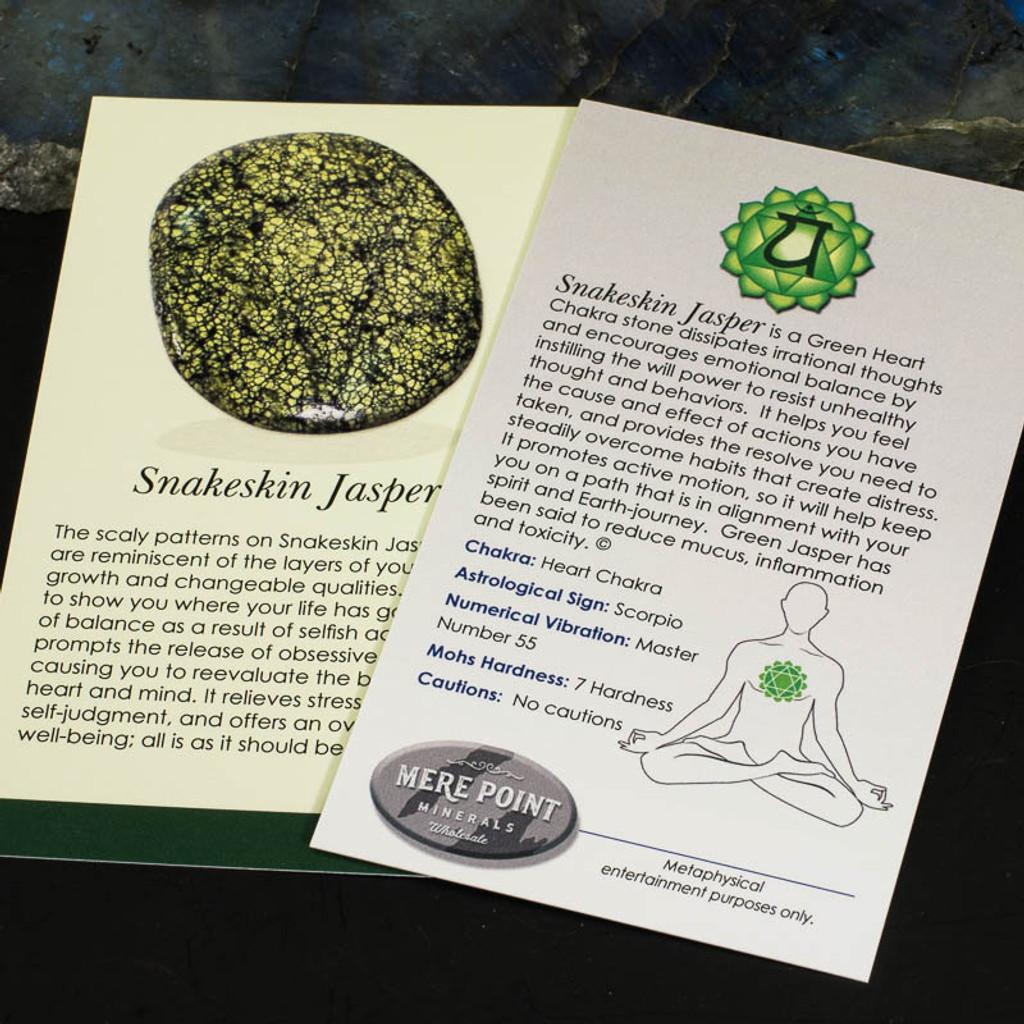Snakeskin Jasper Description Card