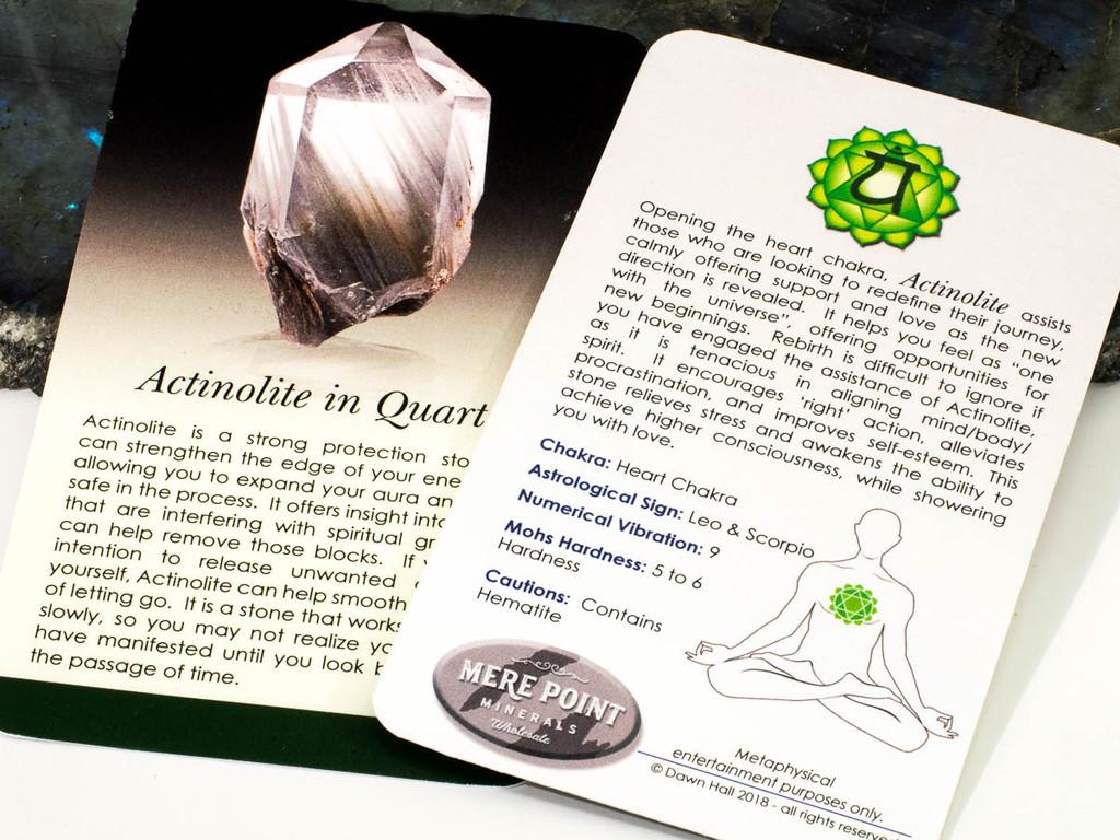 Actinolite Description Card