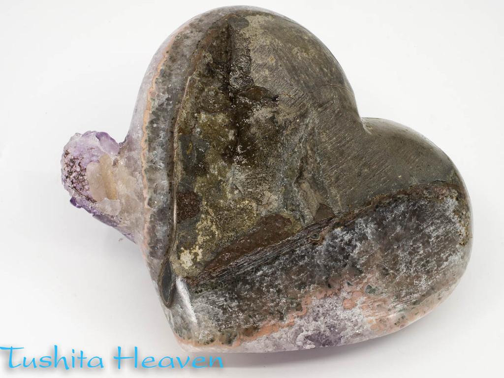 Druze Amethyst Heart