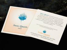 Snow Quartz Card