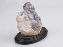 Purple Chalcedony Buddha -B