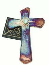 Raku Sacred Cross - Small Heart Star