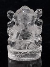 Clear Quartz Ganesh Carving