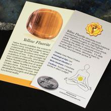 Yellow Fluorite Description Card