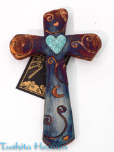 Raku Mystical Pattern Cross
