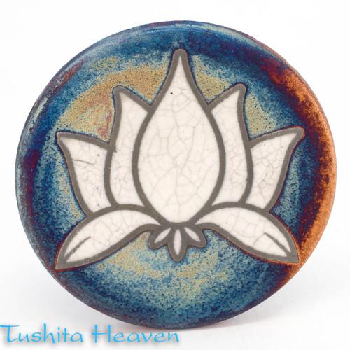 Raku Lotus Coaster