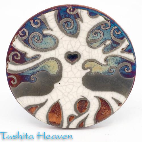 Raku Tree Of Life Coaster