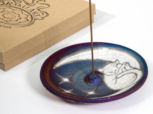 Cat & Moon Incense Burner
