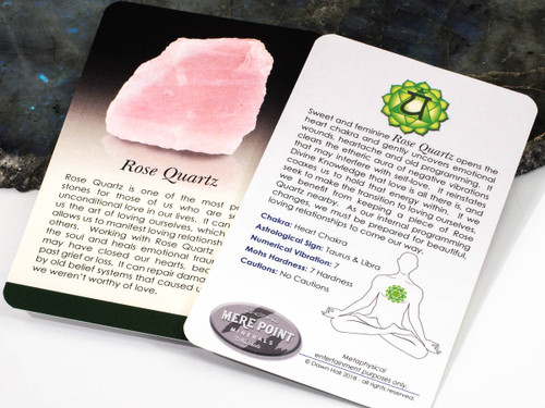 Rose Quartz Description Card