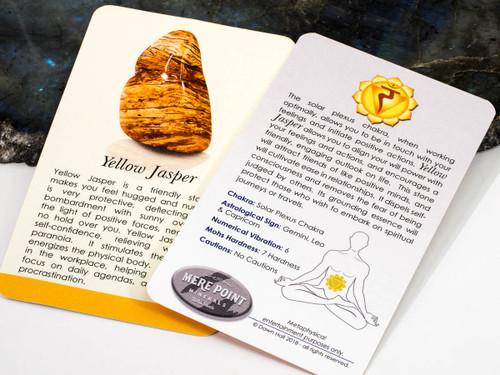 Yellow Jasper Description Card
