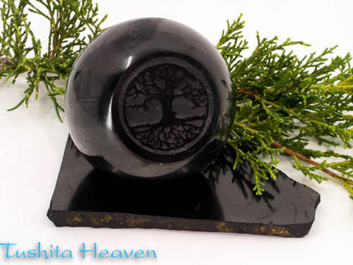 Shungite Tree of Life Sphere