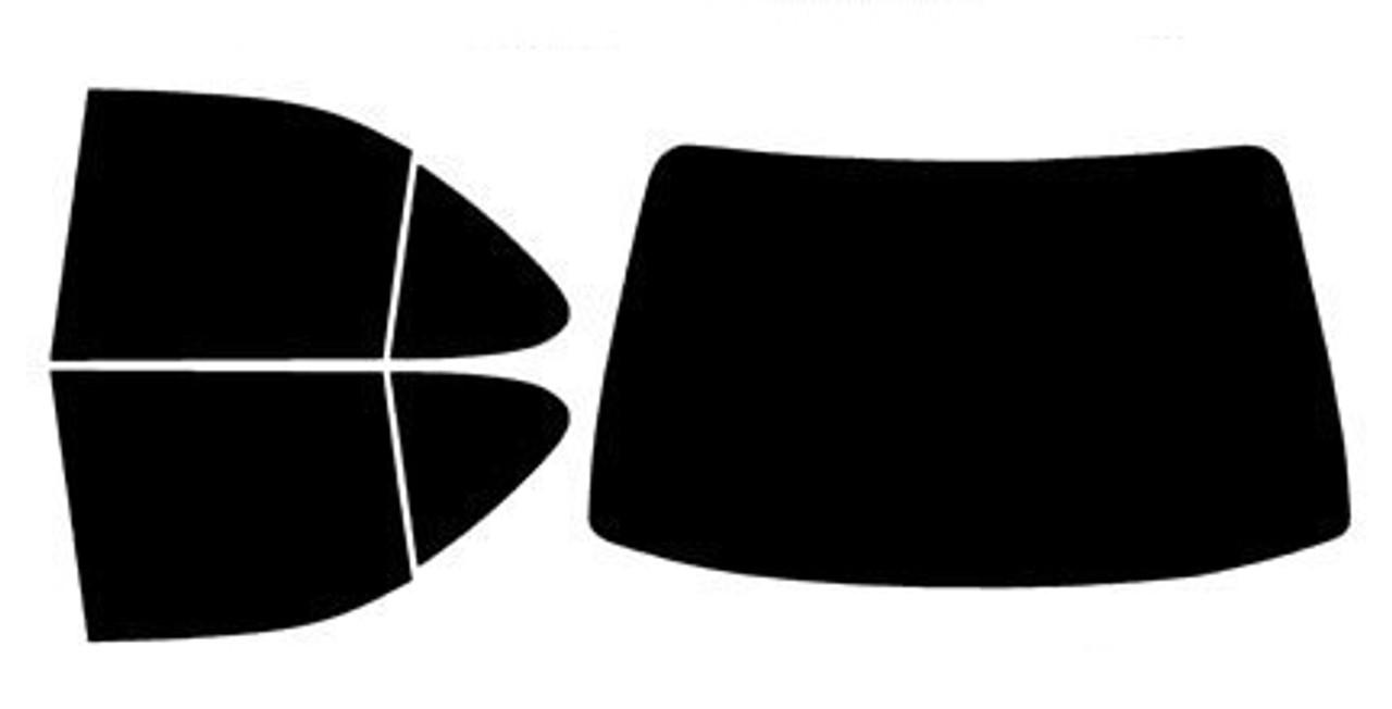 Rear Only Precut Window Tint For Nissan Sentra 4 Door 2007-2012