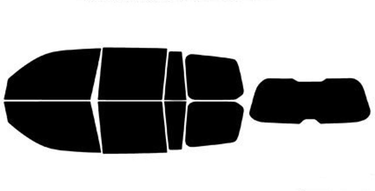 PreCut All Side /& Rear Window Premium Film Any Tint Shade /% for Ram 3500 Glass