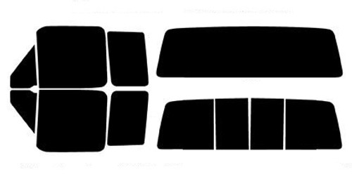 50/% - Front Kit 4 Door Super Crew Rtint Window Tint Kit for Ford F-150 2015-2018