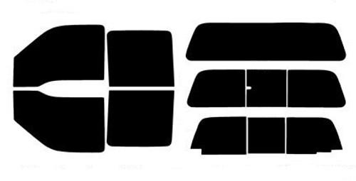 PRECUT WINDOW TINT W// 3M FX-PREMIUM FOR FORD F-250 CREW 08-12