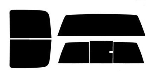 2017 Automotive Window Film Precut Window Tint Kit 2018 /& 2019 2016 Fits: GMC Sierra 2500 and 3500 HD Crew Cab 2015 Includes: Front Windshield Visor precut in 5/%