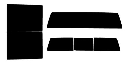 2016 2017 Fits: Chevrolet Silverado 2500 3500 HD Double Cab 2015 Precut Window Tint Kit 2018 /& 2019 Automotive Window Film Includes: Front Door Window precuts in 15/%