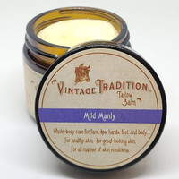 Mild Manly Tallow Balm, 2 fl. oz. (59 ml) - INSTANT DISCOUNT IN CART