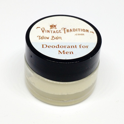 Sample - Deodorant Tallow Balm for Men, 1/4 fl. oz. (7 ml)