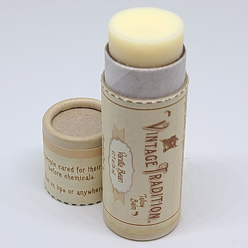 Vanilla Bean Unscented Tube Tallow Balm, 1/2 fl. oz. (15 ml)