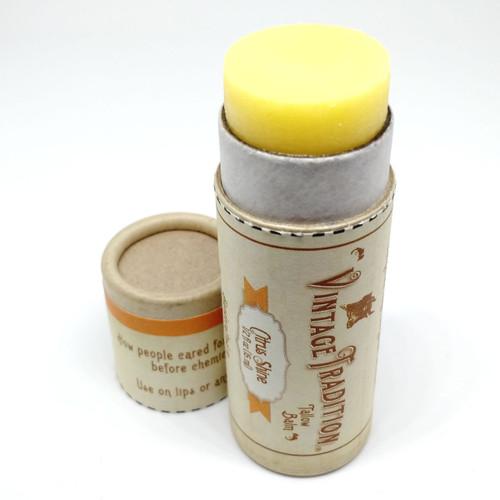 Citrus Shine Tube Tallow Balm, 1/2 fl. oz. (15 ml)