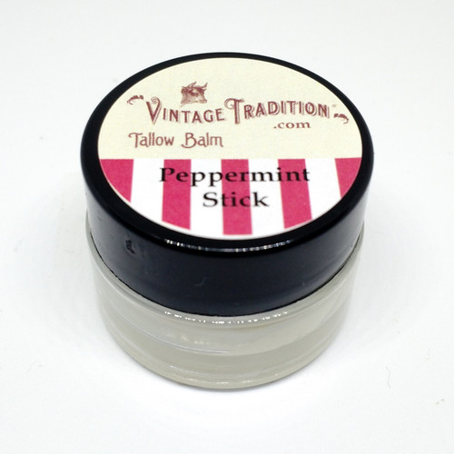 Sample - Peppermint Stick Tallow Balm, 1/4 fl. oz. (7 ml)