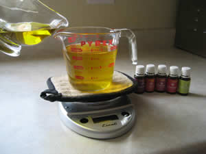 Add organic extra virgin olive oil (or other ingredient(s)) to the liquid tallow to make balm.