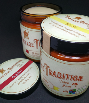 Large Jars of Epic Glow and Oh Aches! Tallow Balm with Green Pasture™ Oils