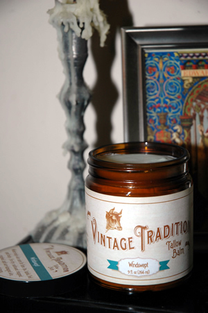 Tallow Balm, Windswept, by Vintage Tradition