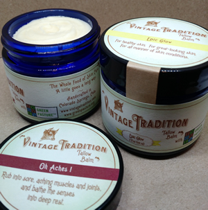 Tallow Balm with Green Pasture Oils