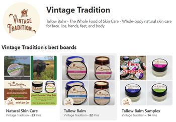 Vintage Tradition Tallow Balm Skin Care on Pinterest
